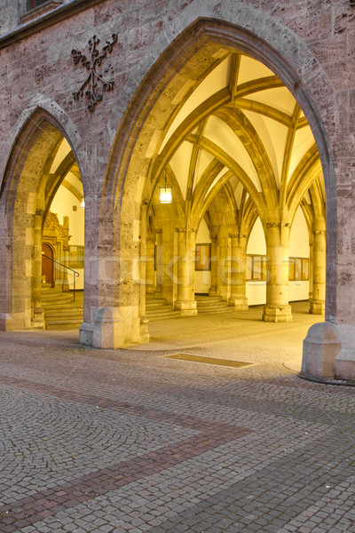 Histórico novo prefeitura Munique noite Foto stock © haraldmuc