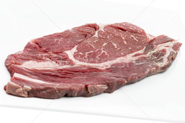 作品 雄牛 白 プレート 食品 ストックフォト © haraldmuc