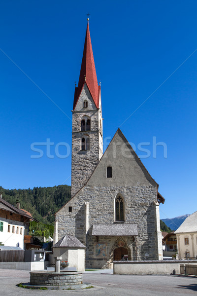 Typical South Tyrolian church, Italy Stock photo © haraldmuc