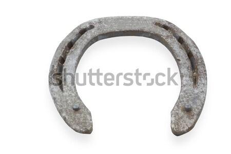 Utilisé fer à cheval isolé blanche fond signe Photo stock © haraldmuc