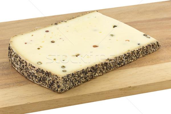 Bors sajt fa deszka természet kövér fehér Stock fotó © haraldmuc