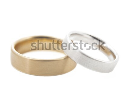 Deux alliances isolé blanche peu profond Photo stock © haraldmuc