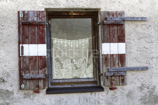 Old window of a mountain hut Stock photo © haraldmuc