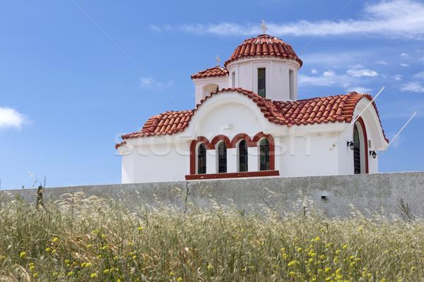 Church on the island of Karpathos, Greece Stock photo © haraldmuc