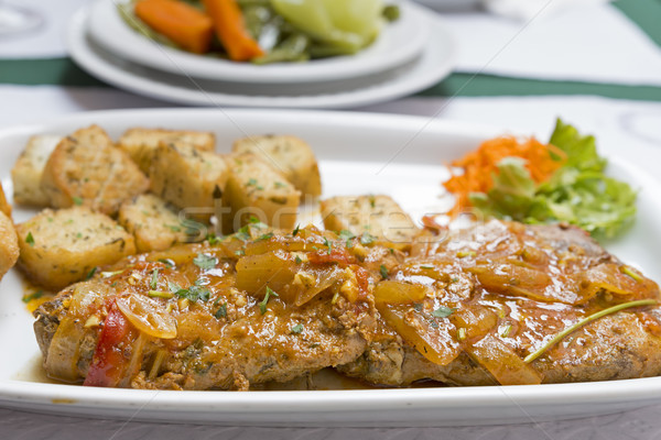 Atum peixe prato comida cozinha cozinhar Foto stock © haraldmuc