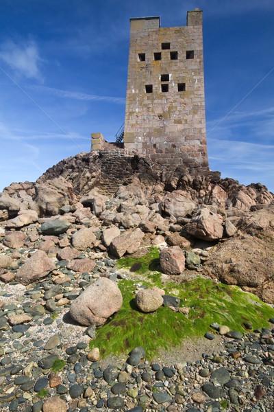 Toren offshore kanaal eiland gebouw zon Stockfoto © haraldmuc