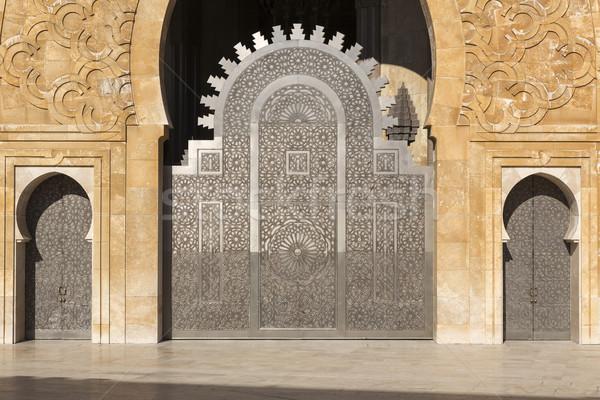 Oriental doors Hassan II Mosque, Casablanca Stock photo © haraldmuc