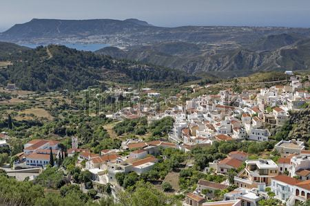Falu sziget Görögország hegy nyár utazás Stock fotó © haraldmuc