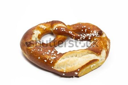 Taze beyaz sosis tuzlu kraker hardal gıda Stok fotoğraf © haraldmuc