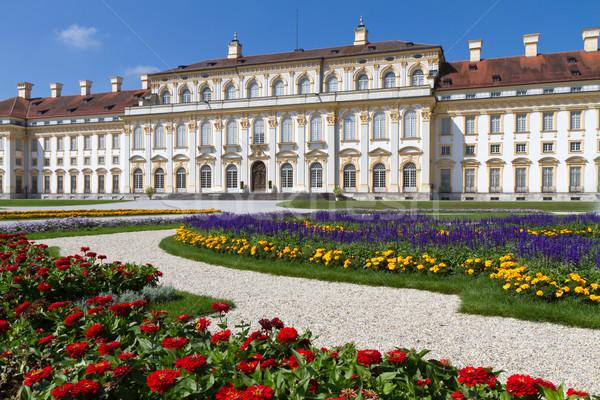 замок Мюнхен Германия цветы здании архитектура Сток-фото © haraldmuc