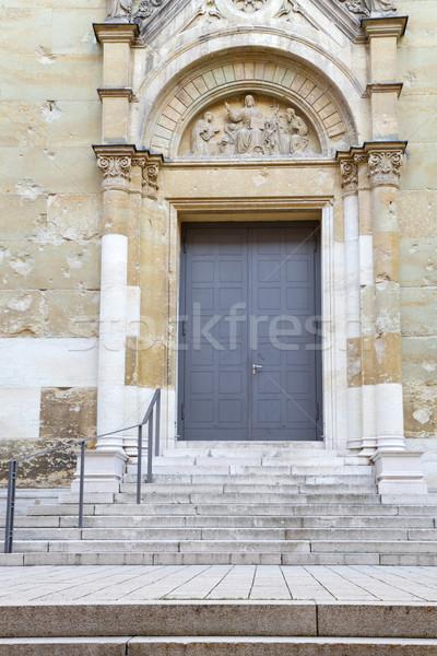 Entrada portal Munich Alemania escaleras iglesia Foto stock © haraldmuc
