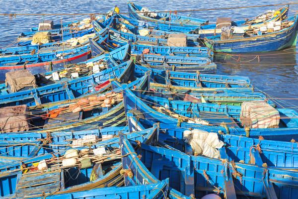 Halászat hajók kikötő Marokkó víz tenger Stock fotó © haraldmuc
