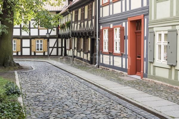 Evler kasaba Almanya ahşap şehir Stok fotoğraf © haraldmuc
