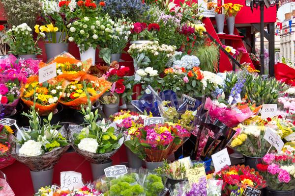 Színes virágok virágüzlet piac üzlet természet Stock fotó © haraldmuc