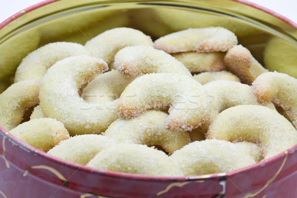 Vanilla crescent christmas cookies Stock photo © haraldmuc