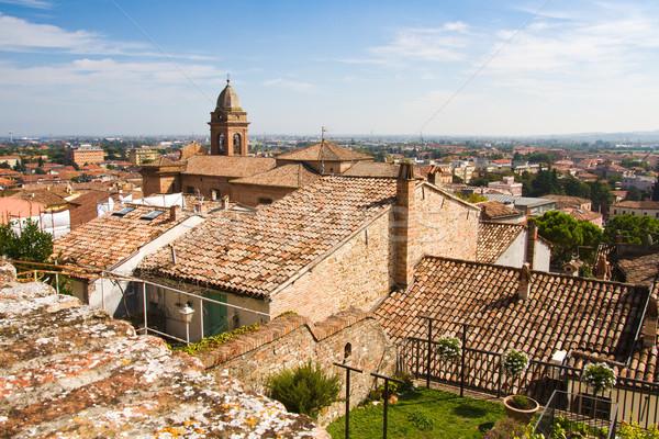 View over roofs of Santarcangelo, Italy Stock photo © haraldmuc