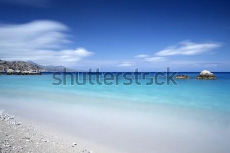 Kavics tengerpart görög sziget kitettség tájkép Stock fotó © haraldmuc