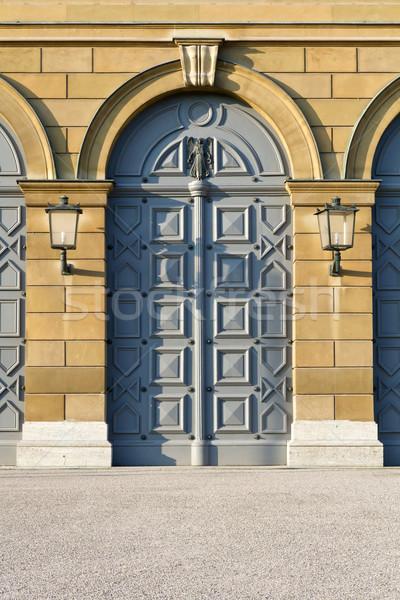 Histórico porta museu egípcio arte Munique Foto stock © haraldmuc