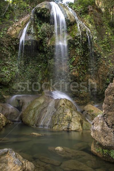 Waterfall with pool, Cuba Stock photo © haraldmuc