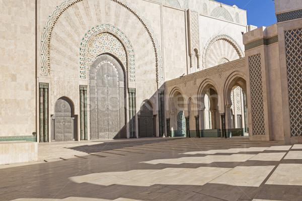 Mezquita Casablanca Marruecos África edificio viaje Foto stock © haraldmuc