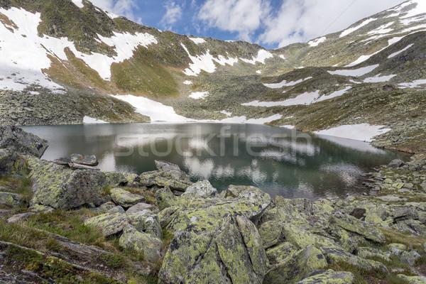 山 湖 イタリア語 アルプス山脈 ヨーロッパ 空 ストックフォト © haraldmuc