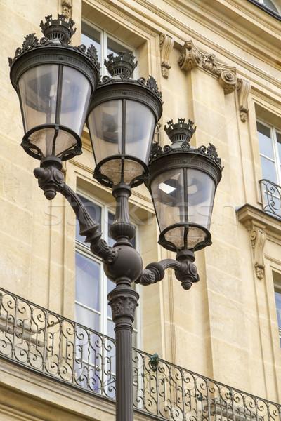 Metallic retro lamppost in Paris, France Stock photo © haraldmuc