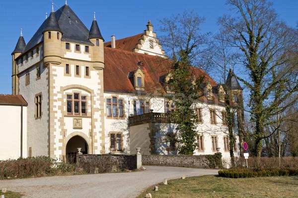 一般的な 表示 歴史的 城 冬 ドイツ ストックフォト © haraldmuc