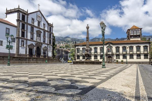 Historique mairie madère ville île salle Photo stock © haraldmuc