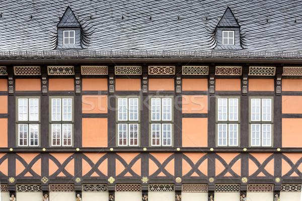 Historic half-timbered houses in the town of Wernigerode, Hermany Stock photo © haraldmuc