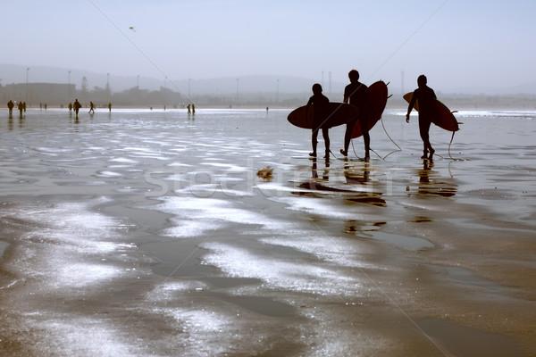 Tengerpart Marokkó férfi gyerekek természet óceán Stock fotó © haraldmuc