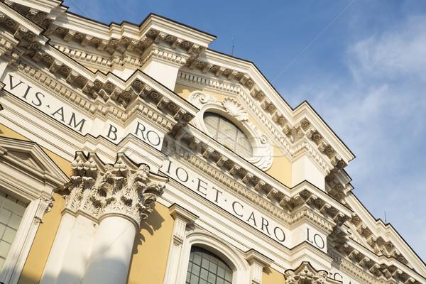 Basilica dei Santi Ambrogio e Carlo al Corso oder San Carlo al C Stock photo © haraldmuc