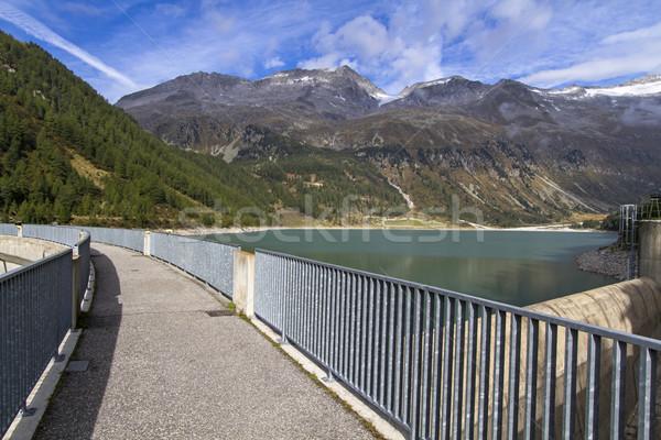 воды водохранилище Италия итальянский гор Сток-фото © haraldmuc