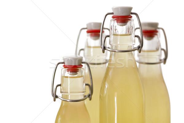 Flessen siroop ondiep voedsel glas Stockfoto © haraldmuc