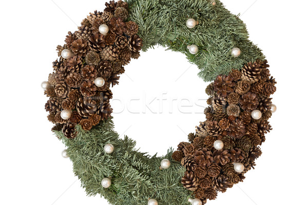 Advent wreath without candles, isolated on white background Stock photo © haraldmuc