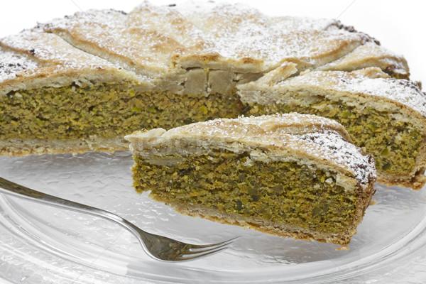 Home-made 'Ruebli-Pie' cake on white Stock photo © haraldmuc