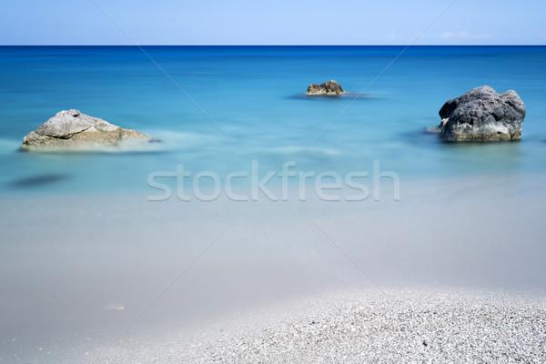 Rocks in the sea, longtime exposure Stock photo © haraldmuc