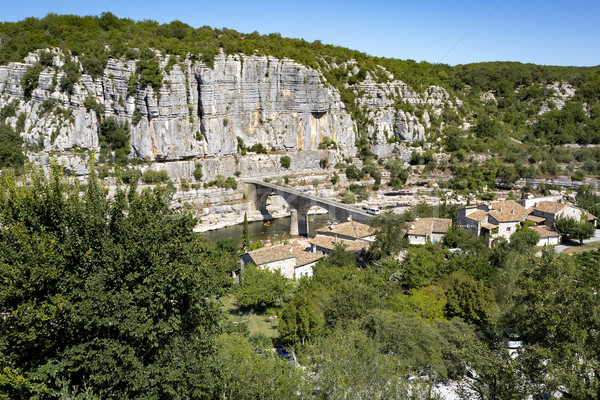 Manzara Fransa bölge yüz yeşil seyahat Stok fotoğraf © haraldmuc
