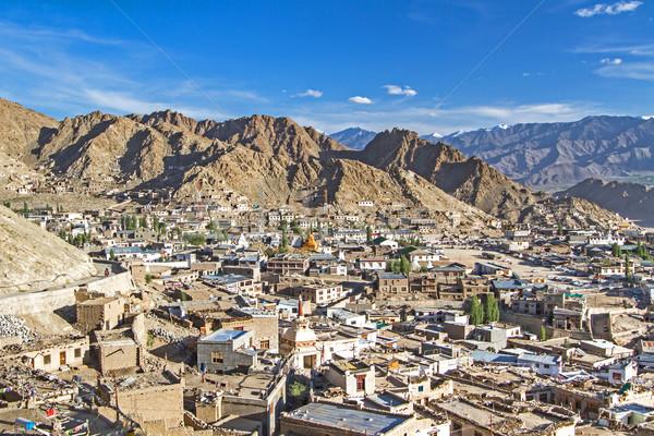 Town of Leh, capital of Ladakh, India Stock photo © haraldmuc