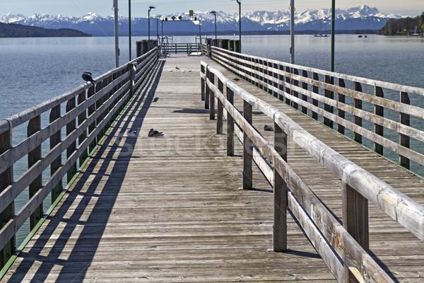 Voir lac Allemagne ciel bois sport Photo stock © haraldmuc