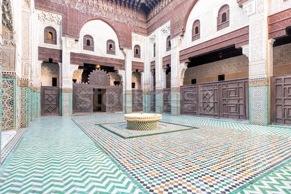 Medersa Bou Inania Koranschule, Meknes Stock photo © haraldmuc