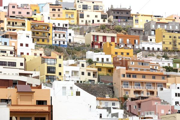 Stad eiland Spanje gebouw home reizen Stockfoto © haraldmuc