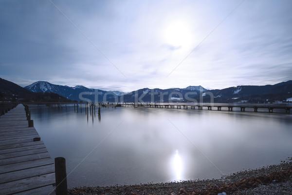 Tó hosszú idő kitettség víz nap Stock fotó © haraldmuc