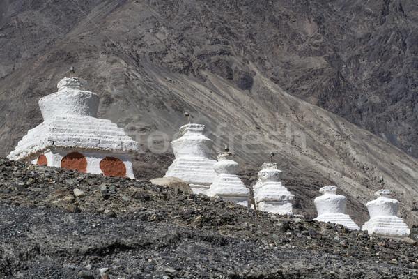 Historic Stupas (Gompas) in Ladakh, India Stock photo © haraldmuc