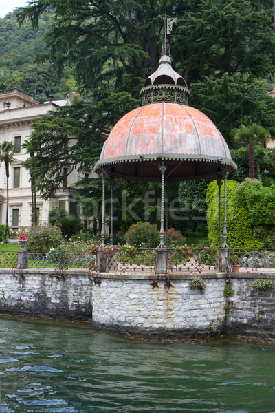 Romantic pavilion on the shore of lake Como in Italy Stock photo © haraldmuc