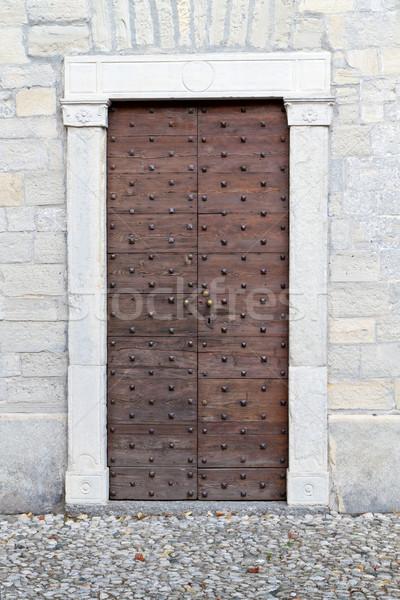 Historic church door in Italy Stock photo © haraldmuc