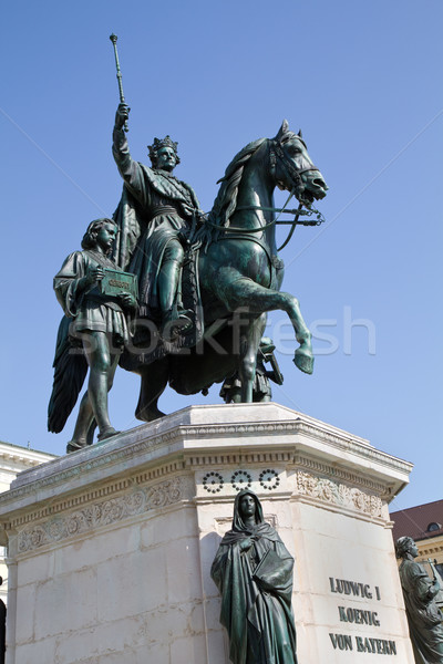 Estatua rey Munich Alemania caballo arte Foto stock © haraldmuc