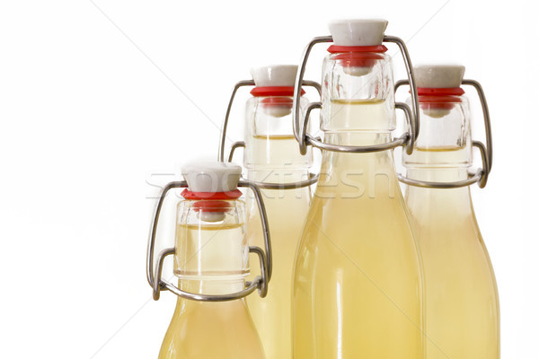 Bottles filled with elderflower syrup, large DOF Stock photo © haraldmuc