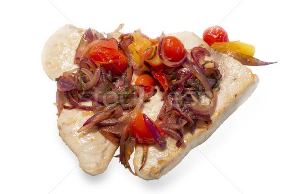 Zwaard vis uien geïsoleerd witte Stockfoto © haraldmuc