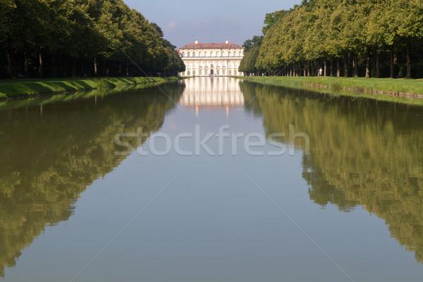 運河 宮殿 ミュンヘン ドイツ ツリー 城 ストックフォト © haraldmuc