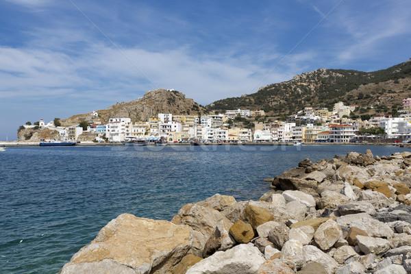 Kasaba Yunanistan dağ yaz yeşil seyahat Stok fotoğraf © haraldmuc